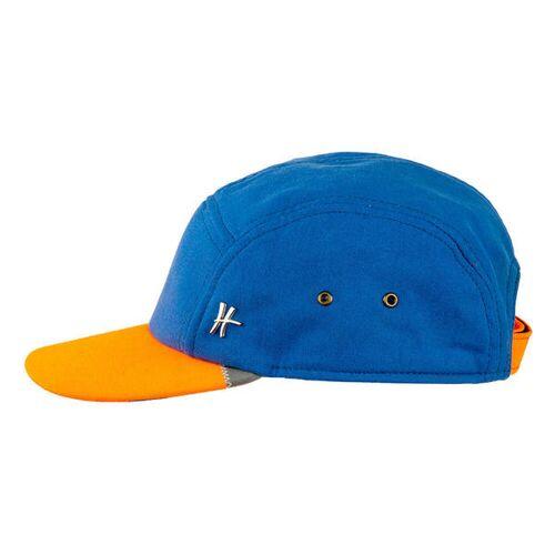 "ReHats Berlin 5-panel-cap ""Azubi"" Aus Arbeitskleidung - Hellblau-orange orange s/m (55-58 cm)"