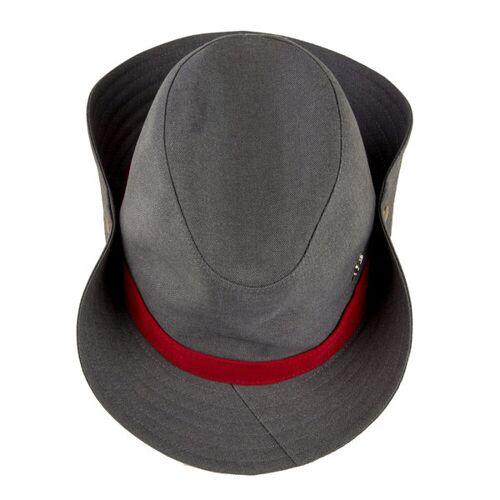 "ReHats Berlin Cowboyhut ""Mrs. Cowboy"" Aus Arbeitskleidung - Grau-rot grau 58 cm"