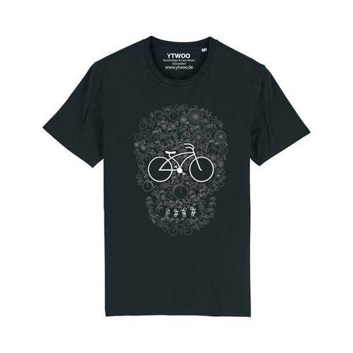 YTWOO Fahrrad Totenkopf, Skull Bike, Rad Mit Totenkopf Design scwarzb S