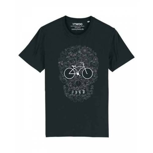 YTWOO Fahrrad Totenkopf, Skull Bike, Rad Mit Totenkopf Design scwarzb M