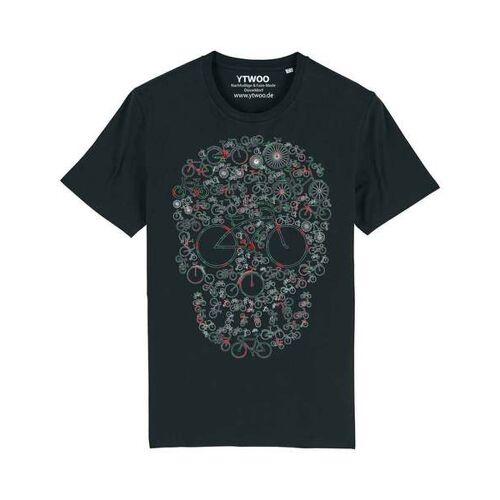 YTWOO Fahrrad Totenkopf, Skull Bike, Rad Mit Totenkopf Design schwarz M