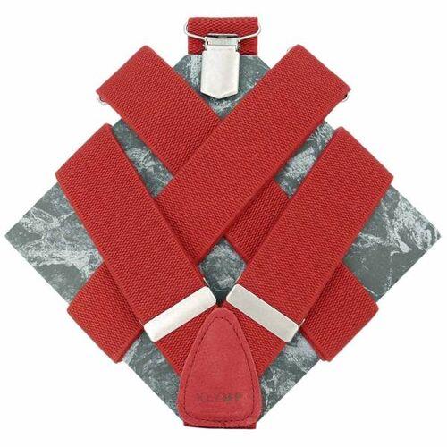 klYmp Hosenträger 'Basic' Uni rot s (110cm)