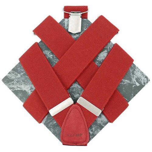 klYmp Hosenträger 'Basic' Uni rot m (120cm)