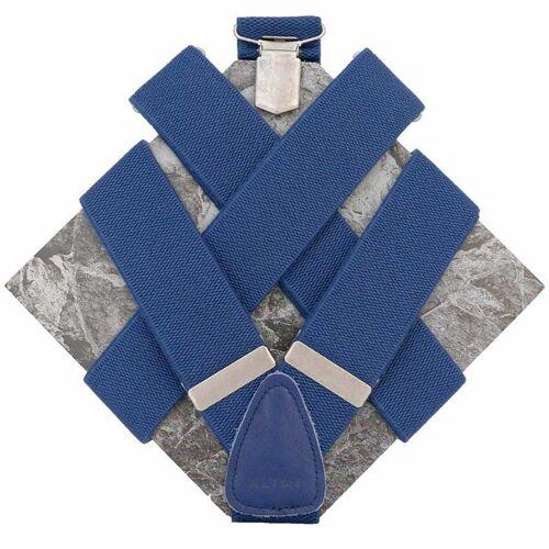 klYmp Hosenträger 'Basic' Uni blau l (130cm)