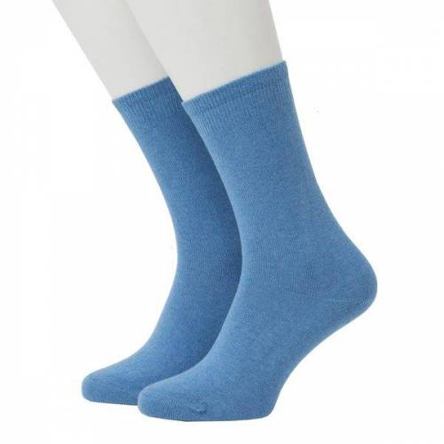 Opi & Max Cashmere Socks blue 36-40