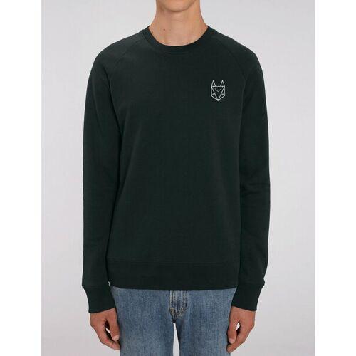 Róka - fair clothing Pullover Mit Besticktem Fuchs - Männer schwarz XL