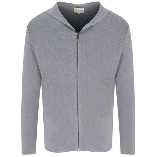 Will's Vegan Shop Zip Up Knit Hoodie Grau Stricken Herren grau stricken S