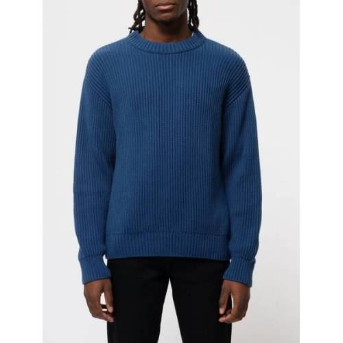 Nudie Jeans Sweater Frank Chunky Rib blau XS