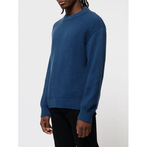 Nudie Jeans Sweater Frank Chunky Rib blau S