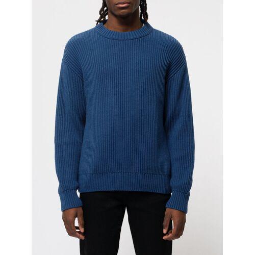 Nudie Jeans Sweater Frank Chunky Rib blau M