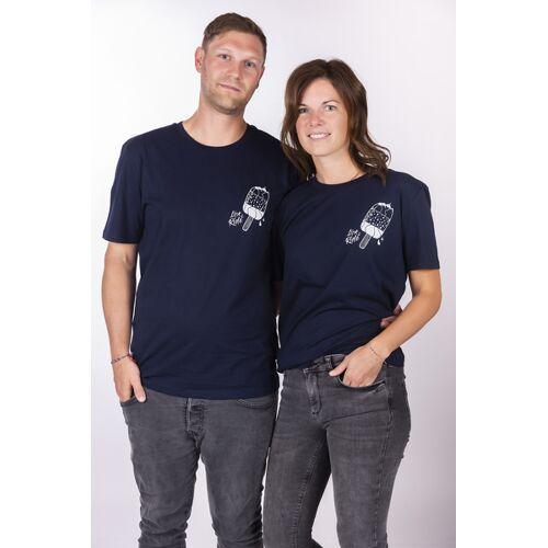 """ecolodge fashion Unisex T- Shirt """"Eleislutscher"""" In French Navy navy XXL"""