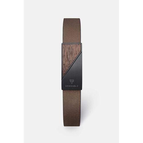Kerbholz Armband Mit Holzelement 'Magnetic Strap' tabak walnuss