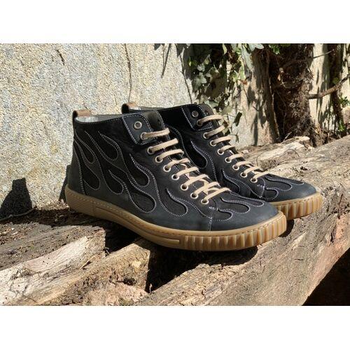 b.y.r.d. High-cut Sneaker Burning 67 honig 43