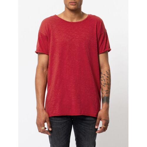 Nudie Jeans Roger Slub T-shirt red (rot) S