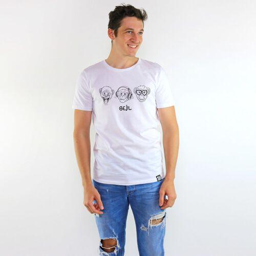 Gary Mash T-shirt Affengeil weiß XL
