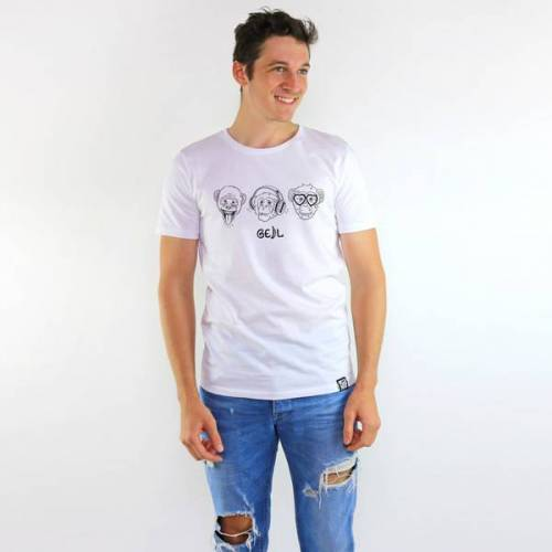 Gary Mash T-shirt Affengeil weiß L