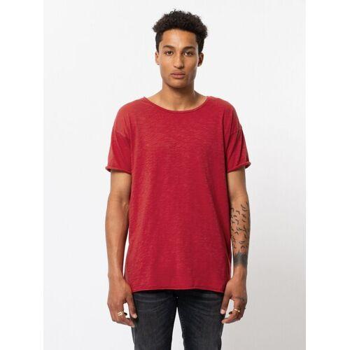 Nudie Jeans Roger Slub T-shirt red (rot) M