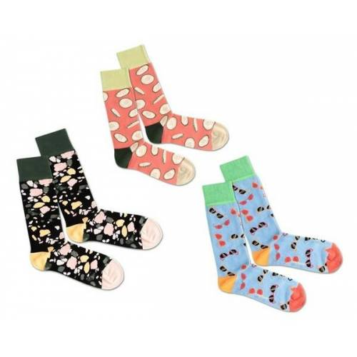 Dilly Socks 3er Socken Box - Summer Beach mehrfarbig 36-40