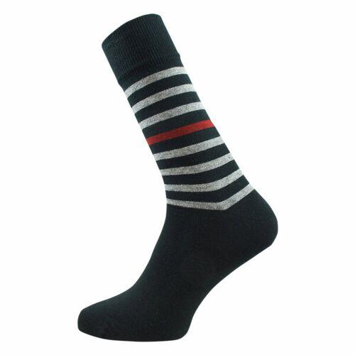Grödo Herren Ringel Socken Bio-baumwolle schwarz/coke/burgund 41/42