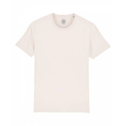 """University of Soul Unisex T-shirt Aus Bio-baumwolle """"Charlie"""" altmodisches weiß L"""