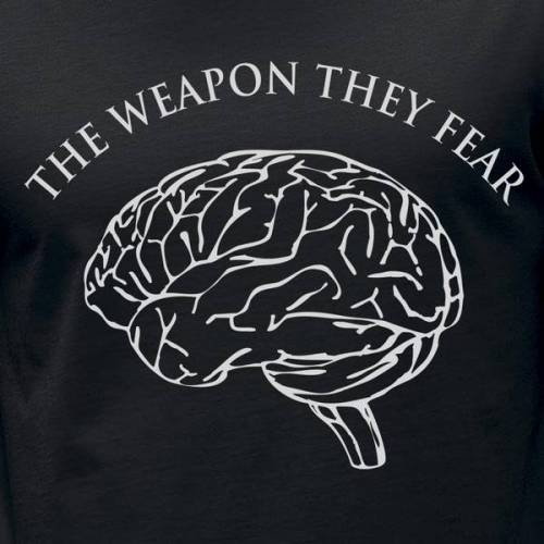 awear The Weapon They Fear T-shirt For Men black XXL