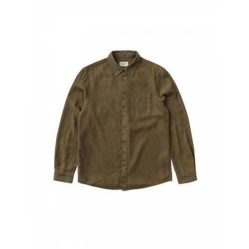 Nudie Jeans - Hemd Chuck Fluid Twill army XL