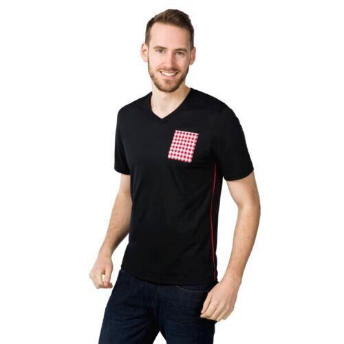ben|weide T-shirt V-ausschnitt Mit Tasche black XS
