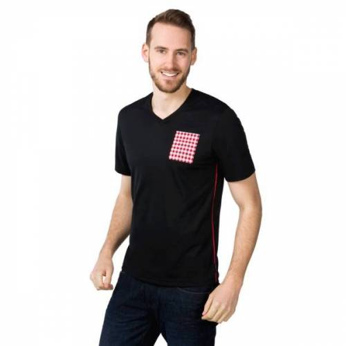 ben|weide T-shirt V-ausschnitt Mit Tasche black L