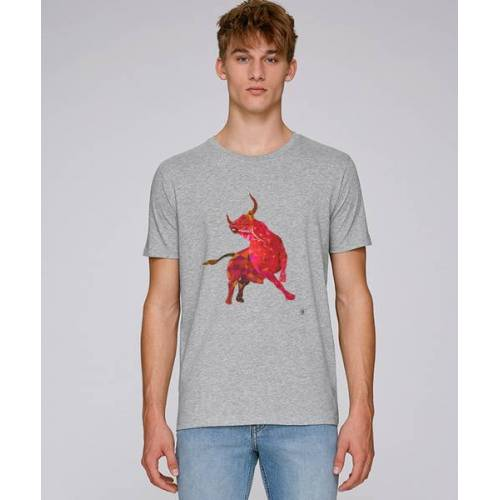 Kultgut T-shirt Mit Motiv / Redbull grau M