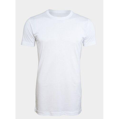 LANGER JUNG 2er Pack - Extralange Basic Shirts Slim Fit - Langer Jung weiss M