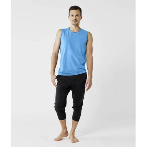 Lotuscrafts Organic Mens Yoga Tank Top blau M