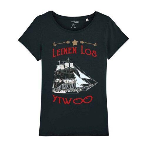 YTWOO Segelschiff Leinen Los schwarz M