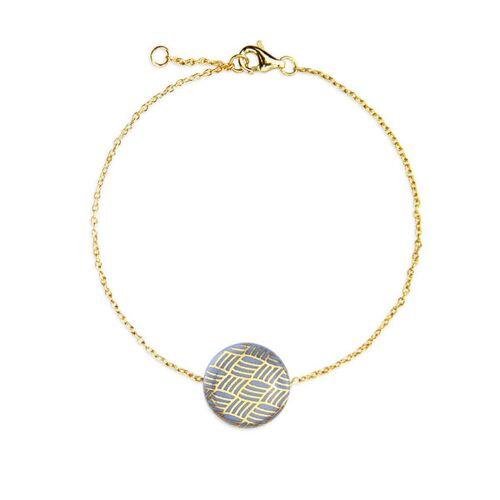 lille mus Porzellan-armband Knoten Porzellanschmuck blau