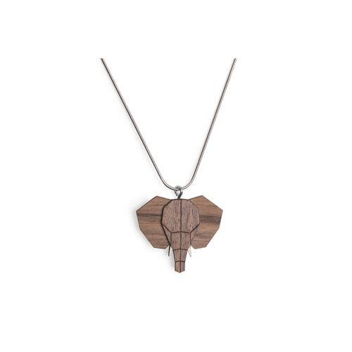BeWooden Halskette Elefant   Kette Mit Anhänger Aus Holz elefant