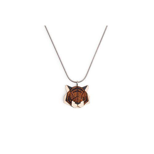 BeWooden Halskette Tiger   Kette Mit Anhänger Aus Holz   Tier Motiv   Tiger tiger