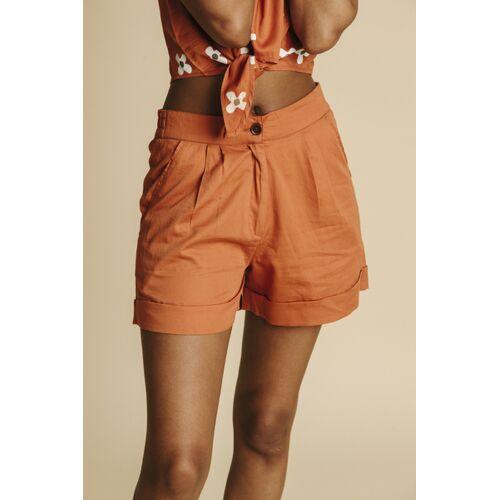 thinking mu Shorts Damen - Mamma orange (teracotta) L