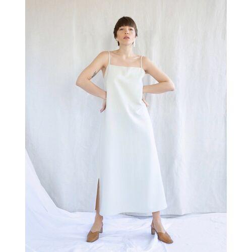 JAN N JUNE Slip Dress Capri Midi Eggshell eggshell M