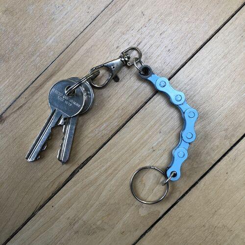 Paguro Upcycle Schlüsselanhänger Aus Recycelten Fahrradkettengliedern blau