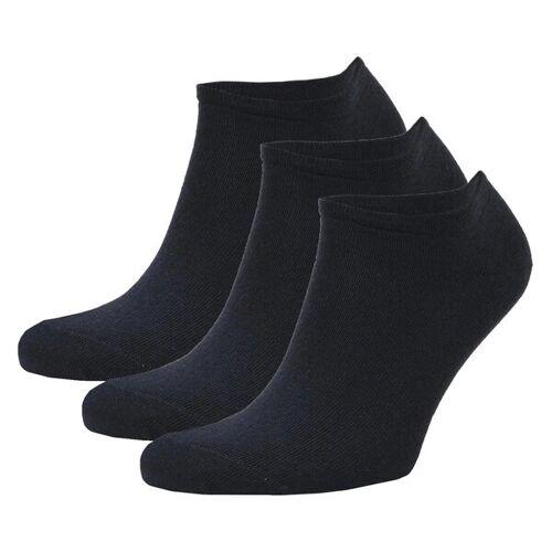 Opi & Max 3er Set Bambus Sneaker Socke Herren Damen Bambussocken blau 36-40