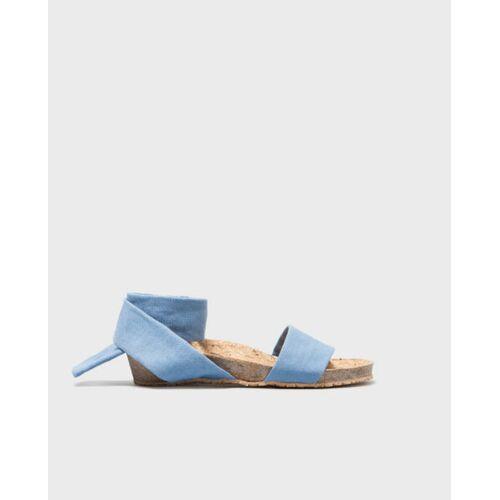 Momoc shoes Sable Bleu - Bequeme Sandalen Aus Bio-baumwolle blau 37