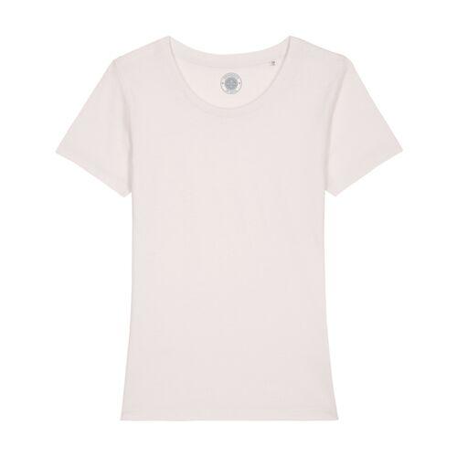 """University of Soul Damen T-shirt Aus Bio-baumwolle """"Estelle"""" altmodisches weiß M"""