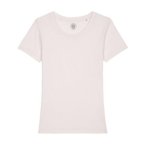 """University of Soul Damen T-shirt Aus Bio-baumwolle """"Estelle"""" altmodisches weiß L"""