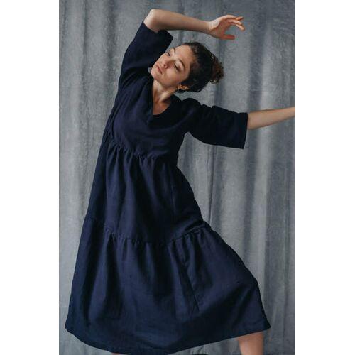 Jyoti - Fair Works Kleid Kamuki Nachtblau nachtblau M