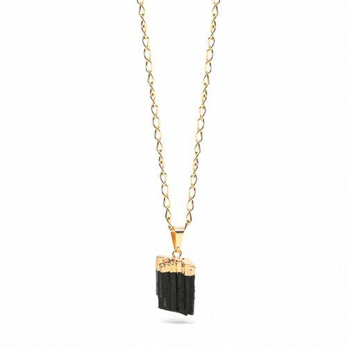 Crystal and Sage Turmalin Halskette Von Crystal And Sage gold