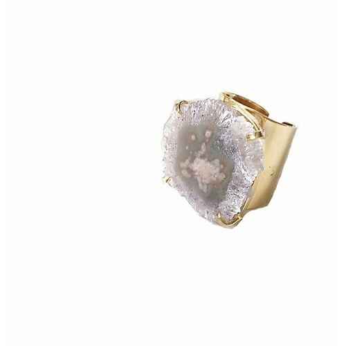 Crystal and Sage Amethyst Cuff-ring amethyst
