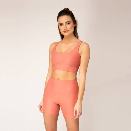 Woodlike Ocean Woodlike - High Waist Shorts peach (rosa) S