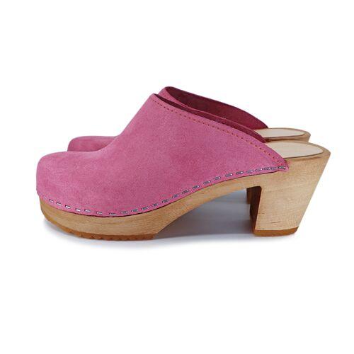 me&myClogs Liv - Schwedische Holz Clogs Von Me&Myclogs - High Mid Heel pink 36