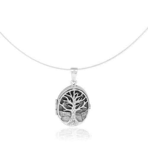 pakilia Kette Silber Amulett Lebensbaum Fair-trade silber
