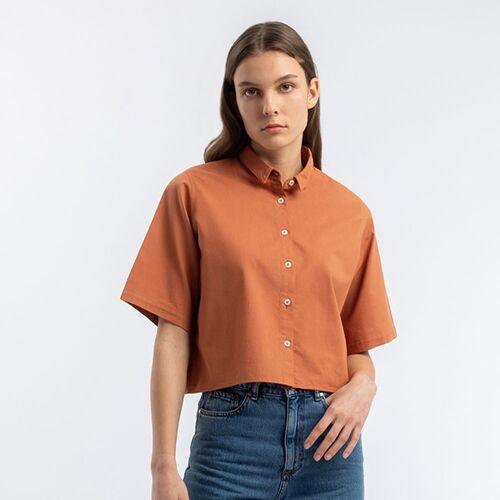 Rotholz Kurzes Hemd rot L