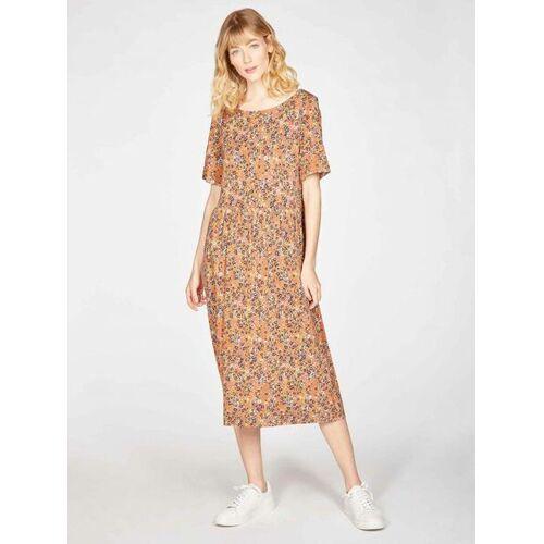 Thought l Braintree Midi-kleid Antonia Mit Blumenmuster Aus Bambus Und Bio-baumwolle zimtfarben mit blumenmuster 38 (uk 10)